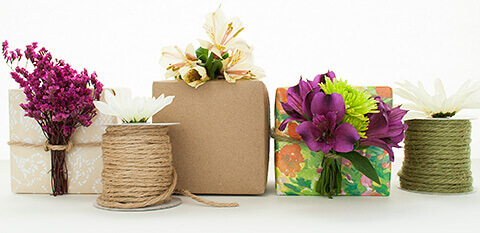 Flowers and Twine Gift Toppers for Mother's Day