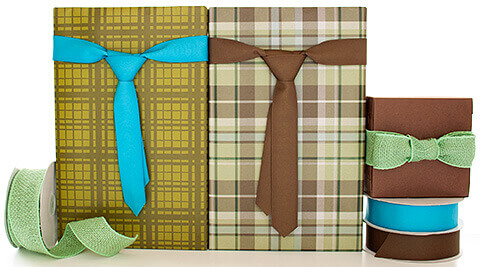 Fathers Day Ribbon Necktie Gift Wrap