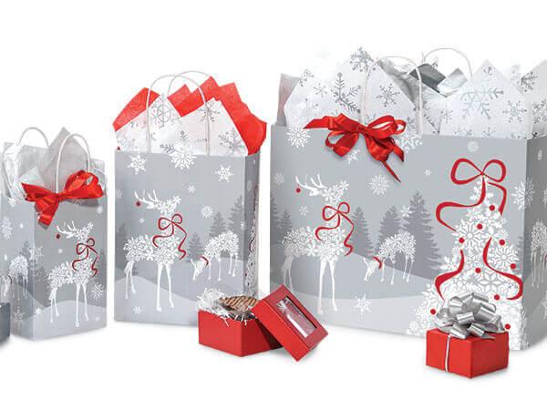 Snowflake Reindeer Bags