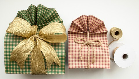 Gingham Gift Bags