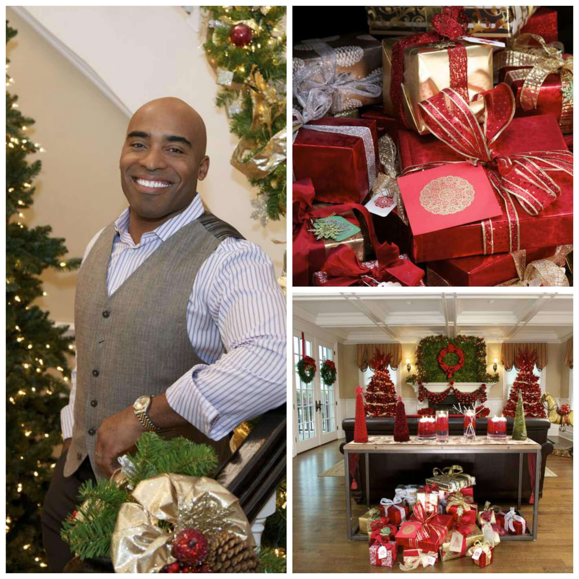 hgtv tiki barber 2013 - Celebrities Christmas Decorated Homes