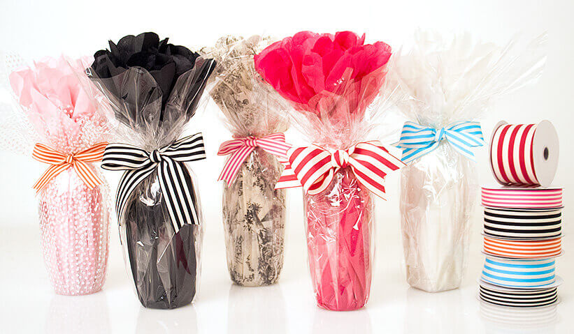 Easy Bottle Gift Wrap
