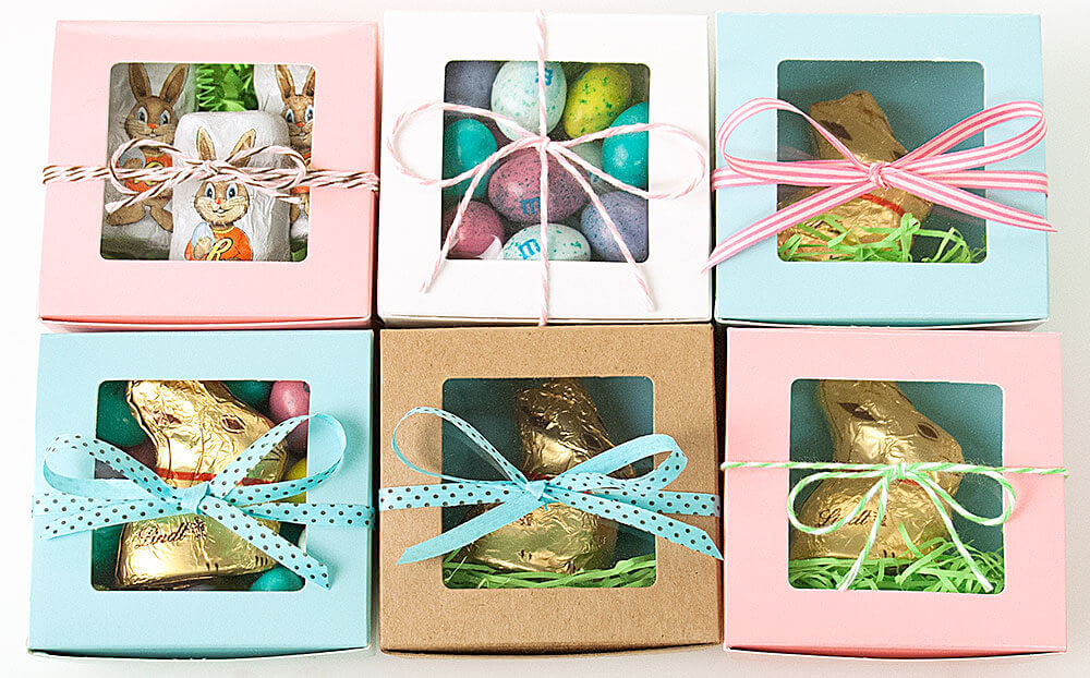 Our new Truffle Boxes make adorable Easter favors!
