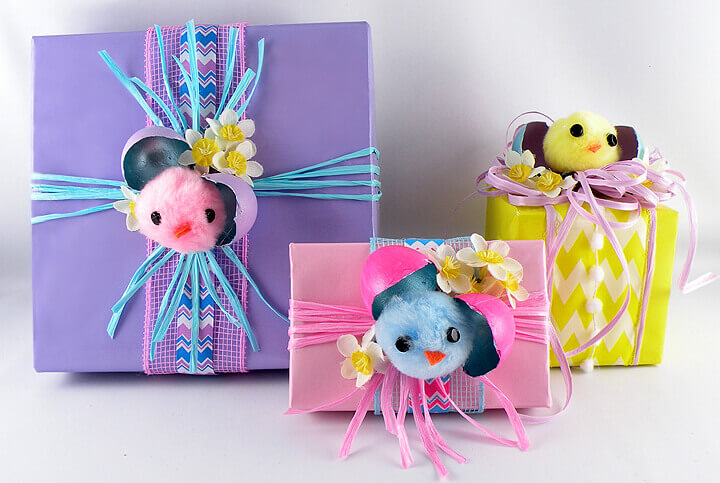 Adorable easter chicks gift wrapping ideas from gina tepper gina tepper easter chicks gift wrapping 1 negle Image collections