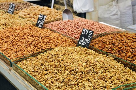 Food Market in Israel Nuts