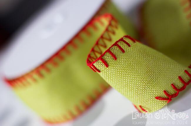 Burlap Stitch Ribbon from Nashville Wraps