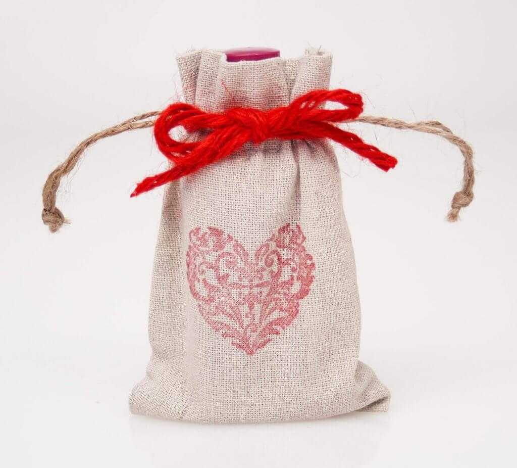 Red Heart Favor Bags
