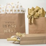 Add Some Glitz to Your Kraft With Metallic Silver & Gold
