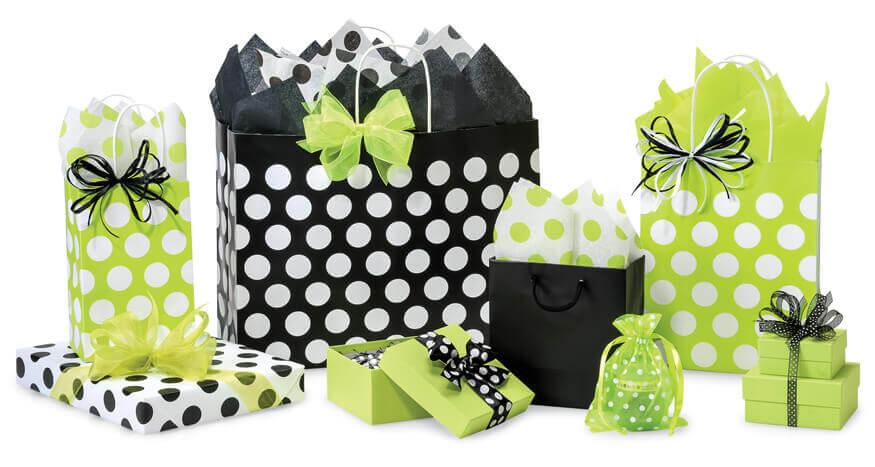 Polka Dot Bags Citrus Black