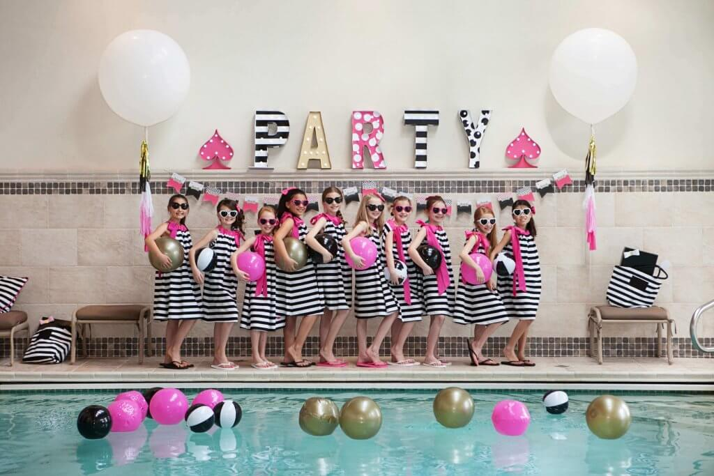 Kate Spade Inspired Pool Party by Banner Events
