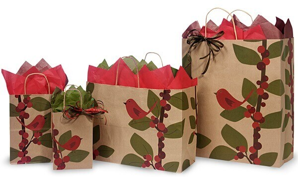 Bird Berries Shopping Bags