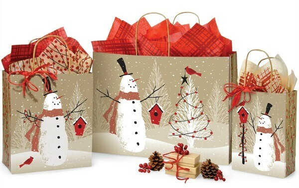 Woodland Snowman Bags