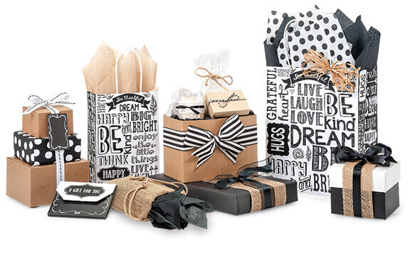 Chalkboard Sentiments Shopping Bags