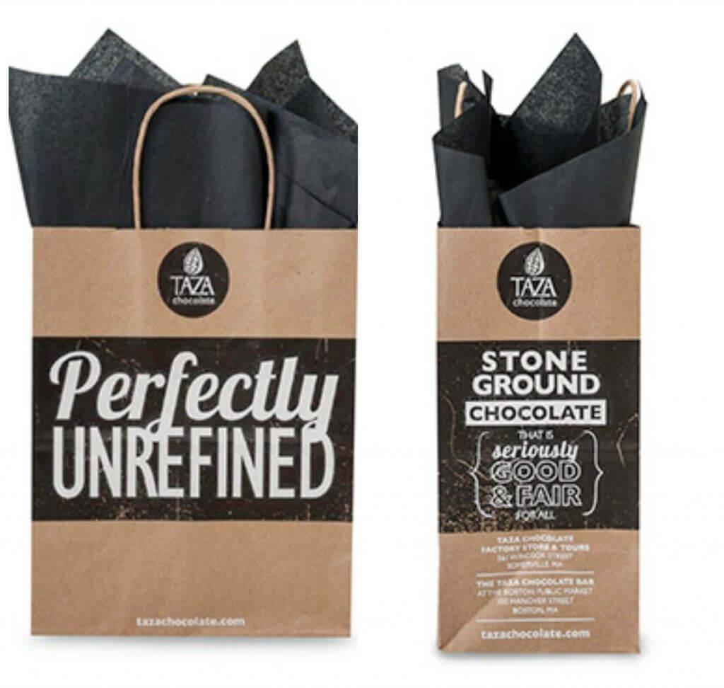 Taza Chocolate Custom Shopping Bags