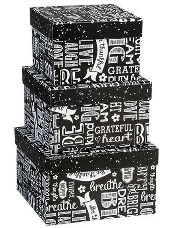 Chalkboard Sentiments Nested Boxes