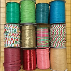 Choose any 12 rolls of raffia, get discount pricing!