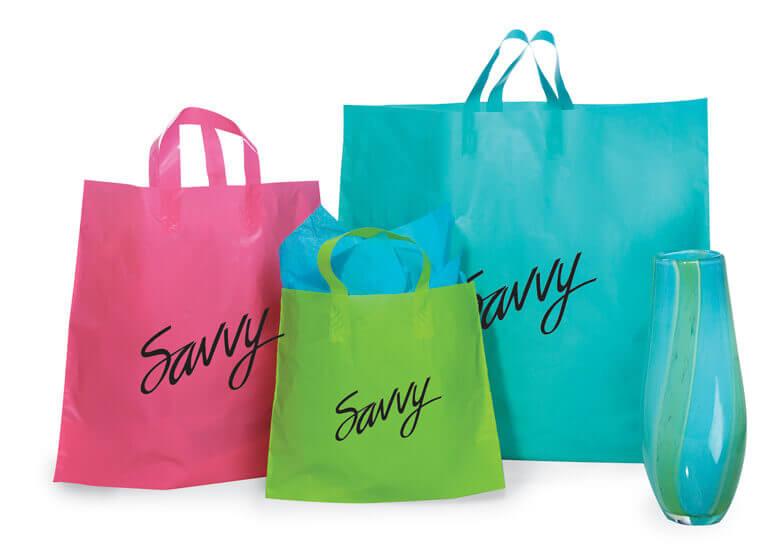 USA Soft Loop Plastic Shopping Bags