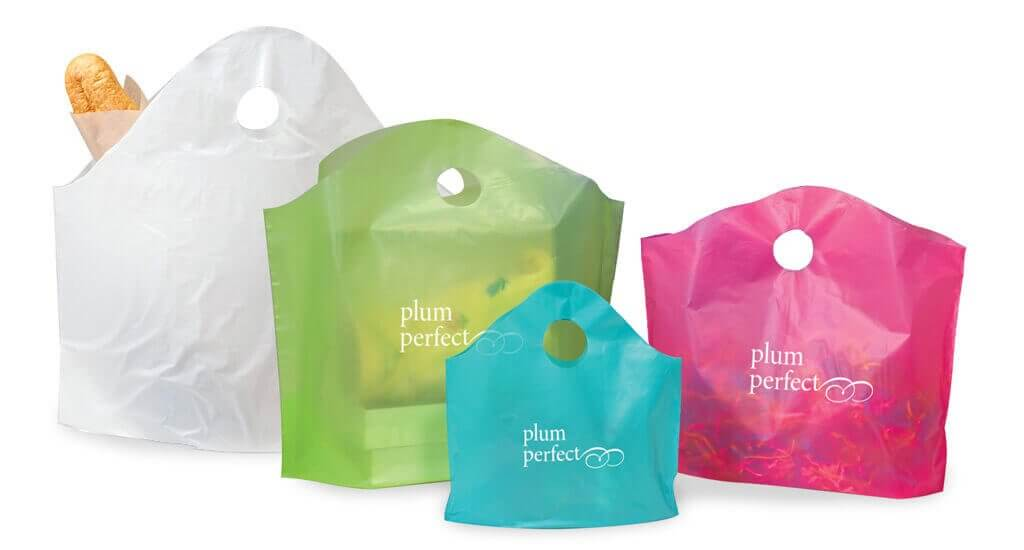 Wave Top Plastic Shopping Bags