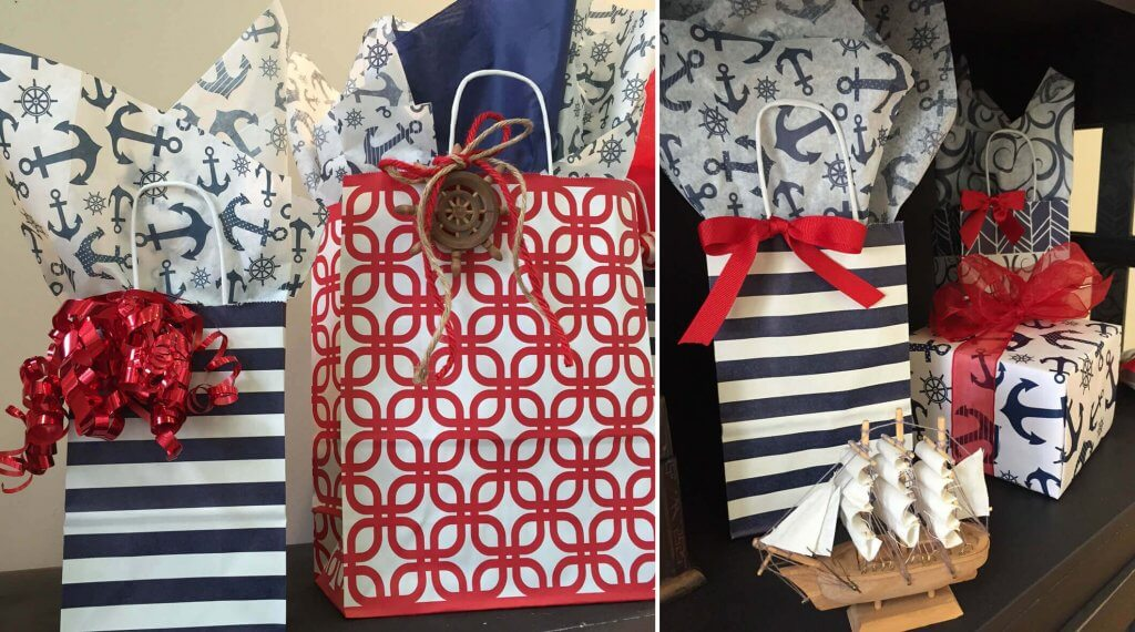 Indigo Blue Stripe Bags
