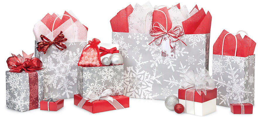 Christmas-Silver-Snowflakes-Shopping-Bags
