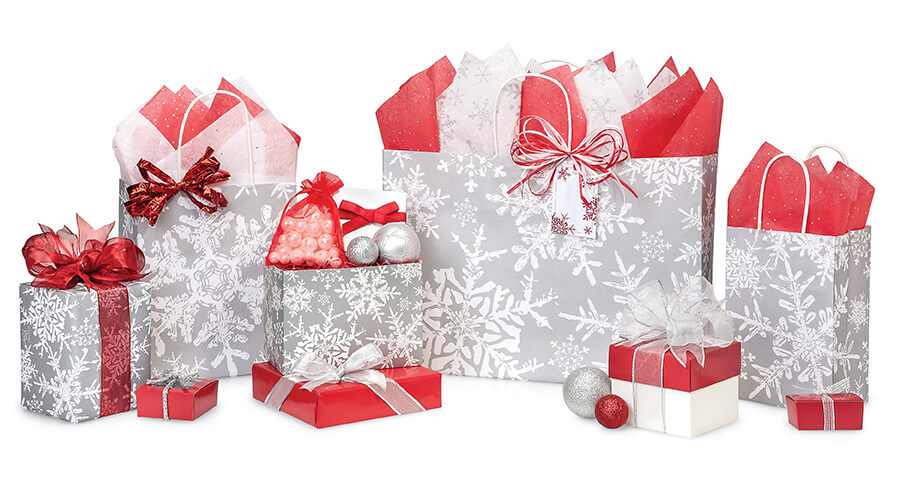 Christmas-Silver-Snowflakes-Shopping-Bags