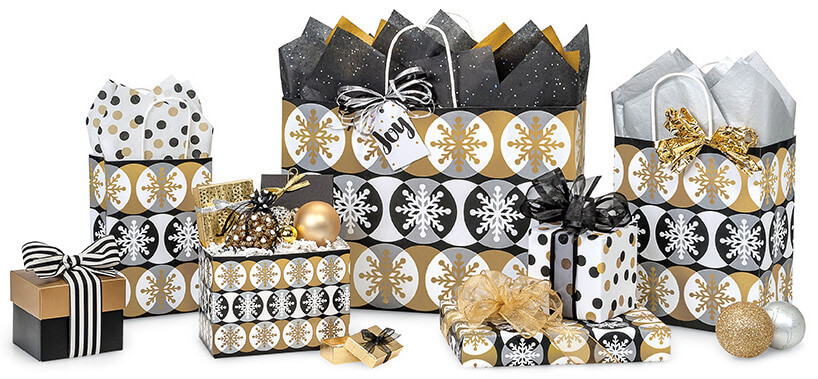 Golden-Snowflakes-Christmas-Shopping-Bags