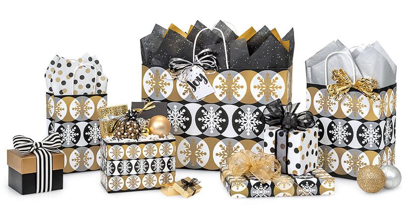 Golden-Snowflakes-Christmas-Shopping-Bags