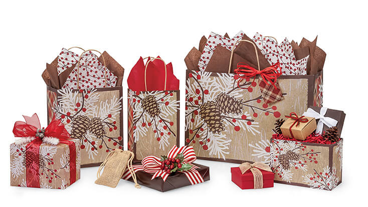 Woodland-Berry-Pine-Shopping-Bags