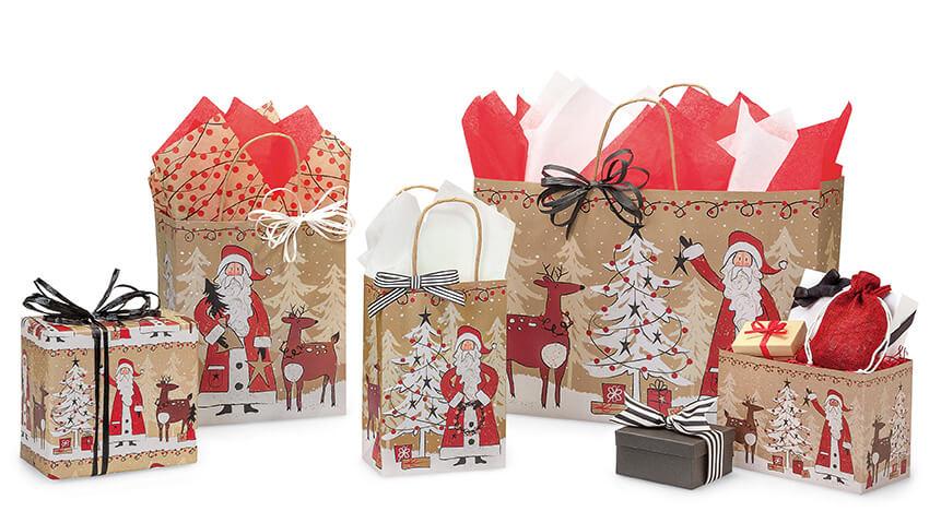 Woodland-Santa-Shopping-Bags