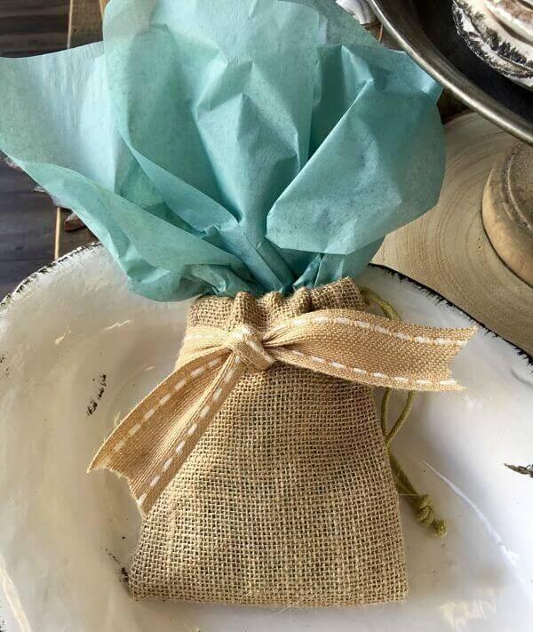 All Inspired Burlap Favor Bags