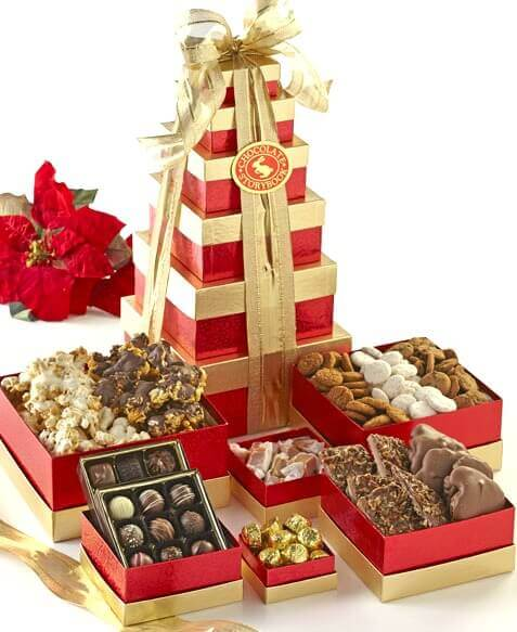 Chocolate Storybook Gift Tower