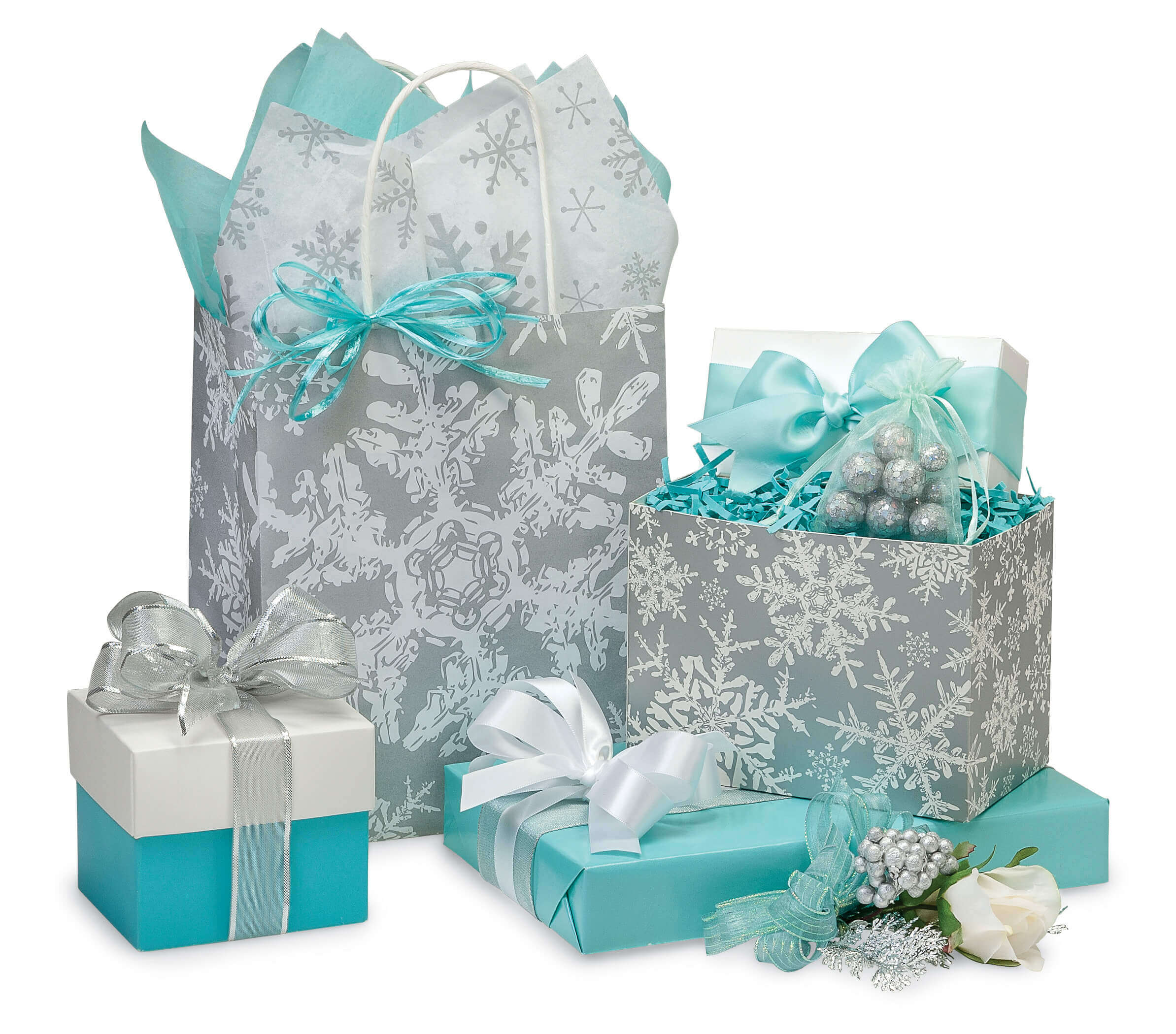 Let it Snow with Snowflake Bags, Boxes, Wrap & Ribbon | Nashville ...