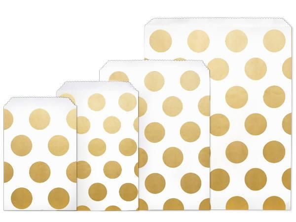 Gold Dots Merchandise Bags