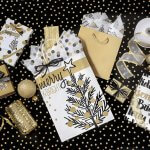 Golden Holiday Trees Christmas Gift Wrapping