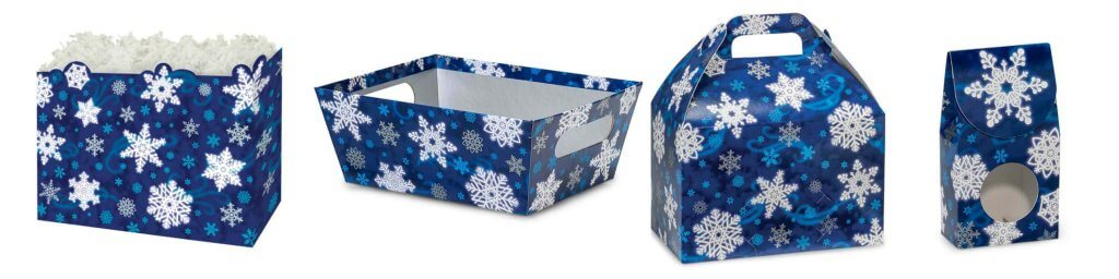 Blue Snowflake Christmas Packaging