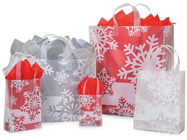 Snowflake Plastic Bags