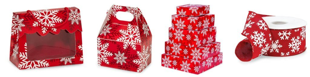 Red Snowflake Christmas Packaging