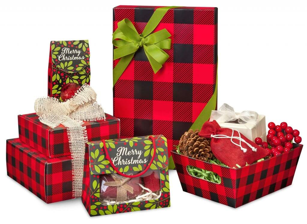 Buffalo Christmas Plaid Gift Wrap Boxes