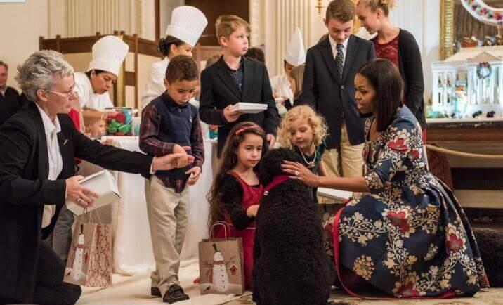 White House Christmas Michelle Obama 2016