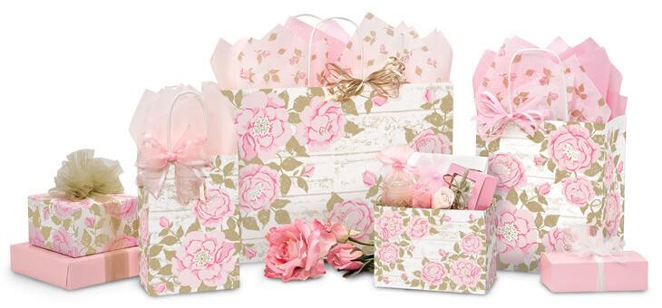 Cottage Rose Garden Shopping Bags