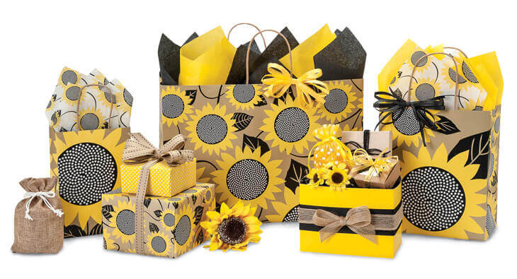 Sunflower Fields Shopping Bags