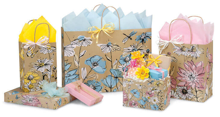 Wildflower Meadow Shopping Bags