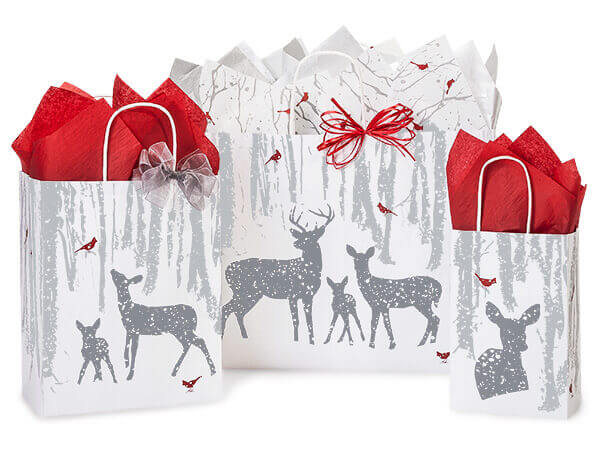 Woodland Frost Shopping Bags