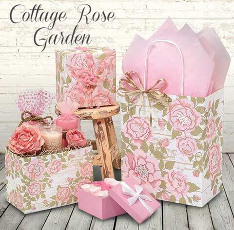 Cottage Rose Garden Shopping Bags