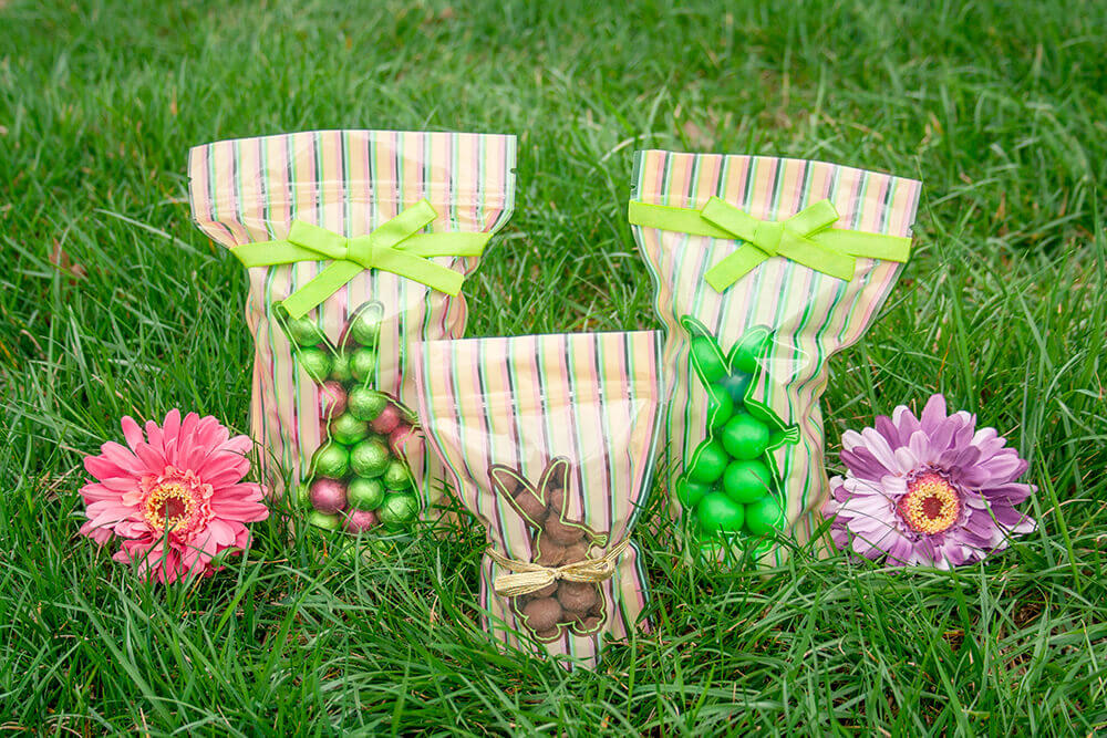Shortcut to spring with easy easter gift basket packaging zip top bunny bags negle Gallery