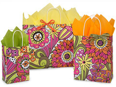 Doodle Garden paper shopping bags