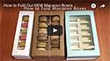 How to Fold Macaron Boxes