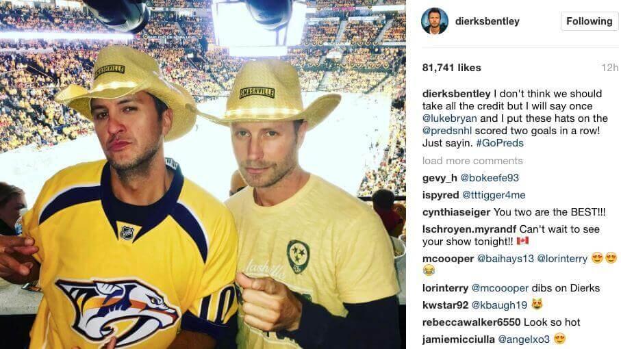 Nashville Preds Luke Bryan Dierks Bentley