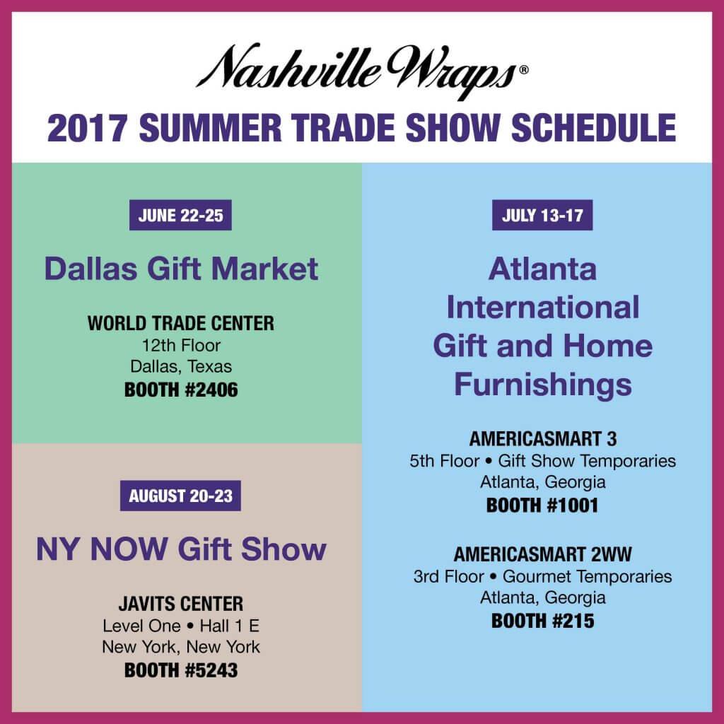 Summer Show Schedule 2017
