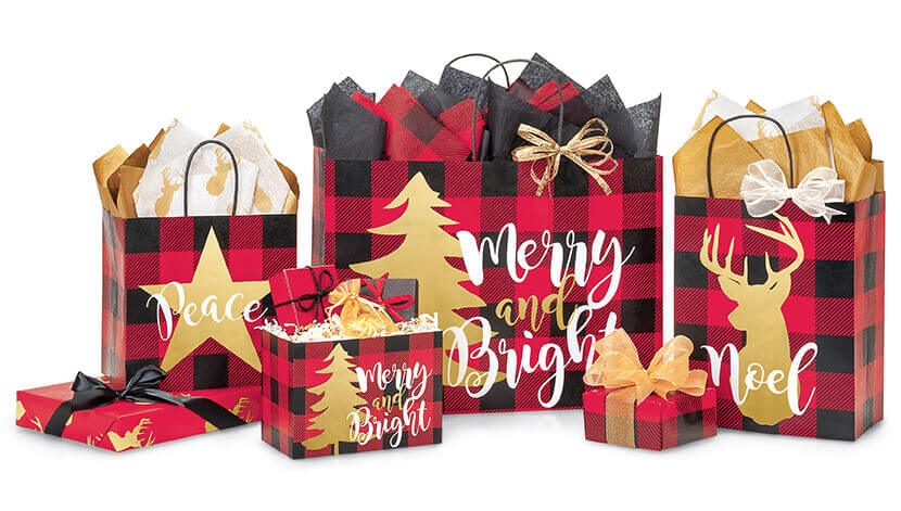 Buffalo Plaid Gift Packaging Collection